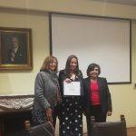 "Doctora Andrea Paula-Lima recibe el premio de ""Excelencia Académica a Investigadora Joven Adelina Gutiérrez 2017"""